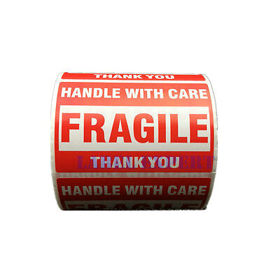 "Fragile Shipping Mailing Handle with Care Stickers 1 Roll 500PCS 2*3 "" 51 x 76mm"