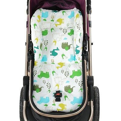 Baby Kids Stroller Liner Reversible Car Seat Padding Cotton Cartoon Warm Cushion