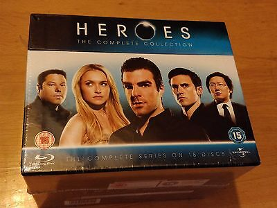 Heroes The Complete Series Collection 18 Disc Boxset (Blu-Ray) New And Sealed