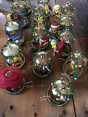 Bradford Editions Lot of 14 Warner Bros Tweety Bird Ornaments AWESOME COLLECTION