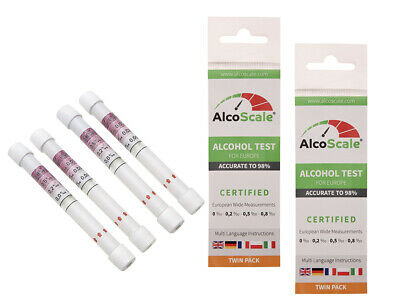 2 x AlcoScale - Alkoholtester für Europa (DE, FR, IT, GB, PL) - 2 x Twin Pack