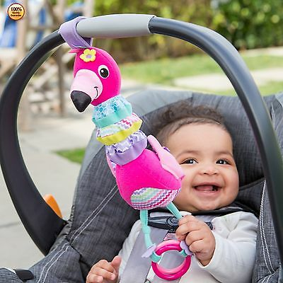 Infantino Flamingo Baby Toddler Infant Car Seat Stroller Musical Toy Kids Gift
