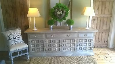Large French grey, rustic, distressed , sideboard/ dresser/ cabinet