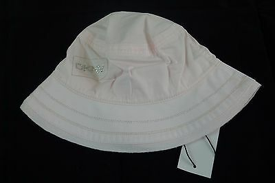 New DKNY pale pink baby girl  sun hat size 44