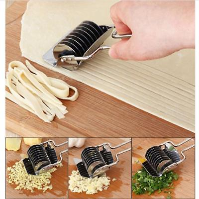 1PC Noodle Cutter Stainless Steel Noodle Lattice Roller Pressing Dough Pasta LH