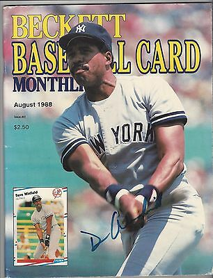 01647fdea dave winfield signed magazine autographed auto mag hof coa 1992 world  series 92