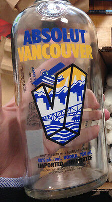 Empty Bottle of Vancouver limited City Edition ABSOLUT Vodka