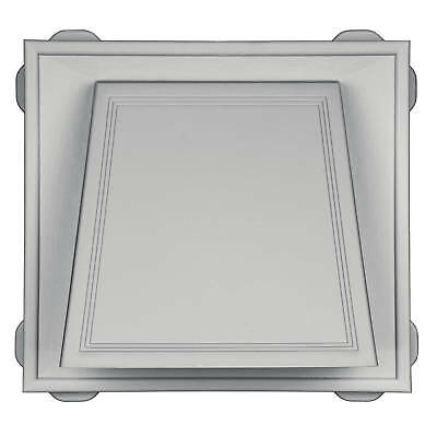 "Mid-America Vinyl Hooded Vents - 6"" Vent - 001 White"