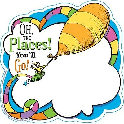 Dr. Seuss Oh The Places You'll Go Paper Cut-Outs