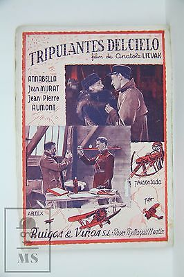 L'Equipage - Annabella & Jean Murat - 1935 Cinema Advtg. Leaflet
