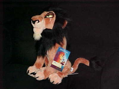 """15"""" Scar Plush Stuffed Toy Mint With Tags From The Lion King The Disney Store"""