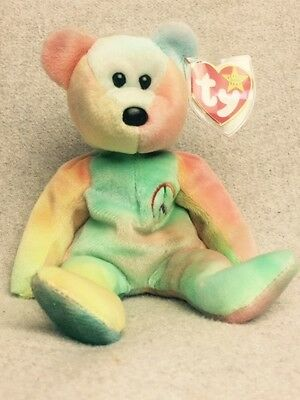 MINT Condition Rare 1996 TY Beanie Baby Peace Bear Collectible!