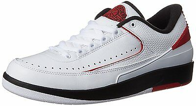 Air Jordan Mens Retro 2 Low Shoes White/Black/Red 832819-101