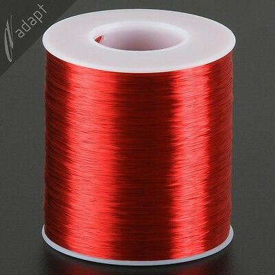33 AWG Gauge Magnet Wire Red 6200' 155C Enameled Copper Coil Winding