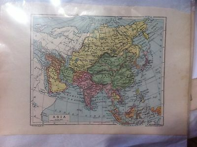ASIA Antique Map c1900s JOHN BARTHOLOMEW