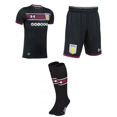Aston Villa Adult Replica Away Kit 2017-18 - NEW 2018 17/18 Shirt Shorts Socks