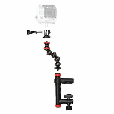 Joby Action Clamp with GorillaPod Arm for Action Cameras, Easy Clamp On NEW u.s