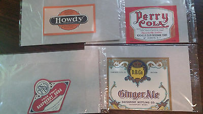 Vintage Soda Pop Bottle Labels Lot of 20