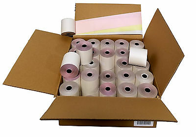 "3-ply 3"" inch 65' Feet (100 Rolls) White/Canary/Pink Kitchen Paper 100 Rolls"