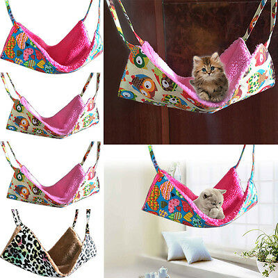Dual-sided Rat Hamster Pet Hammock Hanging Bed Cat Rabbit Squirrel Cage Mat