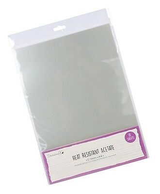 Dovecraft Heat Resistant Acetate A4 Sheet 0.1 mm Thickness - Pack of 10