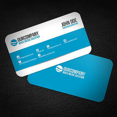 500 ROUND CORNERS Full Color Double Side Custom Business Cards We Can Design it!
