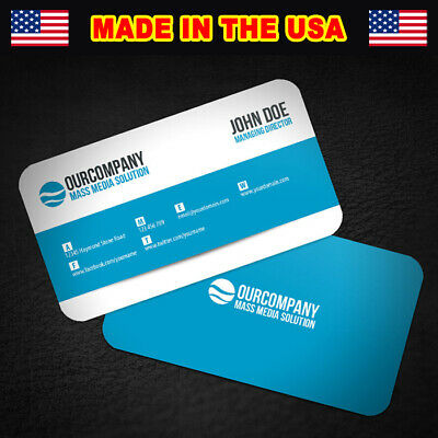 1000 ROUND CORNERS Full Color Double Side Custom Business Cards We Can Design it