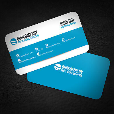 2500 ROUND CORNERS Full Color Double Side Custom Business Cards We Can Design it