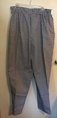 "Mens Chef Pants BW mini check XL ""Chef Designs"""