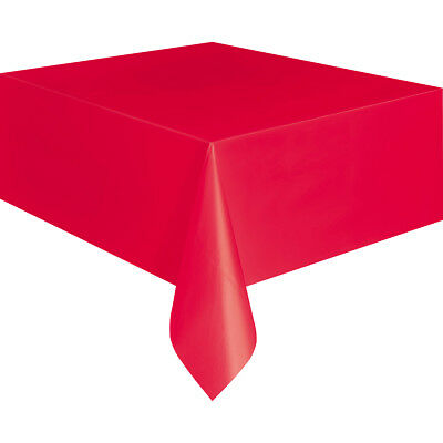 """Unique Industries CPLCVRS-5094 Plastic Tablecover 54""""X108""""-Red"""