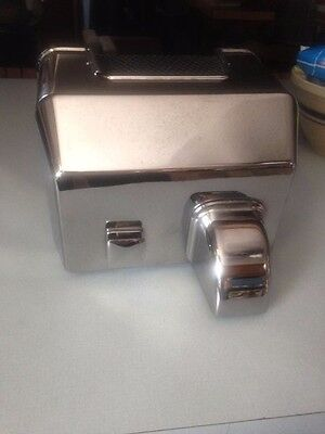 Charles Parker Commercial Chrome Electric Hand Dryer Model 1-C 208/230 Volts 10A
