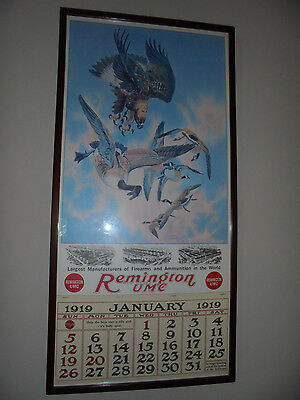 1919 Remington UMC Calendar Lynn Bogue Hunt