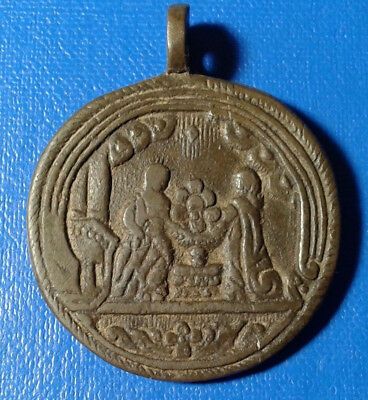 Ancient Bronze Religious Medallion.