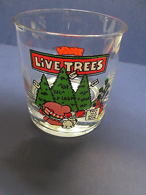 1980 Ziggy Cartoon.Tom Wilson. Christmas Holiday Glass Tumbler. Clean.