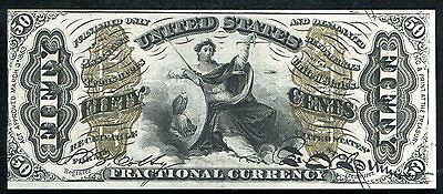 """Fr. 1345 50 Fifty Cents Third Issue """"Justice"""" Fractional Currency Uncirculated"""