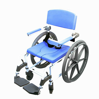 CareProdx Rolling Shower Commode Wheelchair