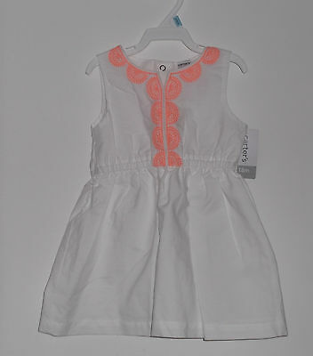 NWT Carter's Toddler  Girl Summer Sleeveless Dress Fully Lined  Size 18 Months
