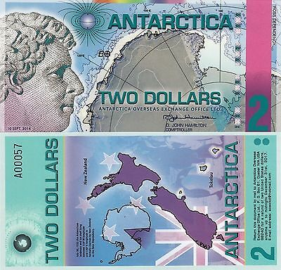 Antarctica 2 Dollars (2014) - Ross/New Zealand