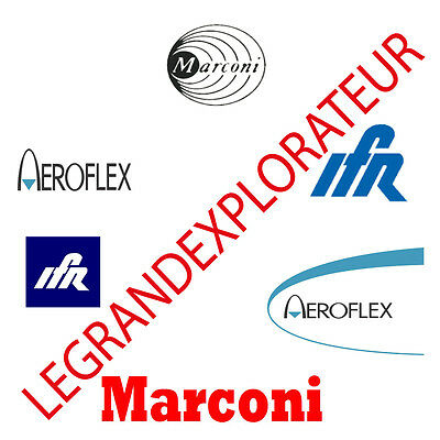 Marconi IFR Aeroflex Communications Spectrum Analyzer Service Monitor Manual s