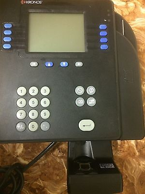Kronos Time Clock System 4500  8602800-501 with biometric reader