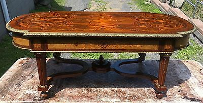 Renaissance Rosewood Satinwood Inlaid Coffee Table