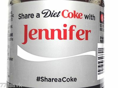 Share a DIET COKE with JENNIFER Collectible 20 oz Bottle RARE Coca-Cola HTF Name