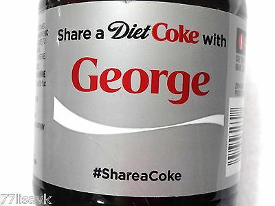Share a DIET COKE with GEORGE Collectible 20 oz Bottle RARE Coca-Cola HTF Name