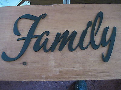 Family-Black Wrought Iron Wall Art Metal Home Decor Primitive