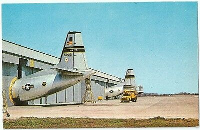 Dover De Dover Air Force Base Military Hangers Vintage Postcard Delaware Chrome