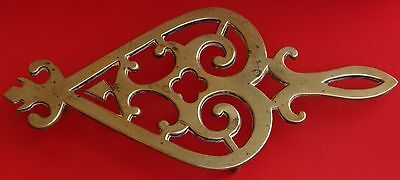 Vintage  Solid Brass Trivet / Iron Rest