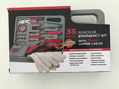 35 piece Roadside Emergency Tool Kit in storage case