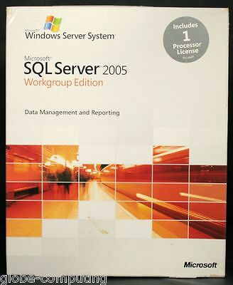 Microsoft SQL Server 2005 Workgroup Edition 1 CPU Processor Licence A5K-01020