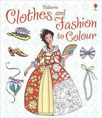 Clothes and Fashion to Colour by Ruth Brocklehurst Paperback Book