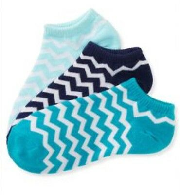 NEW AEROPOSTALE Girls 3 Pair Ankle Socks One Size Multi Color 9-11